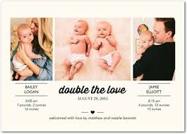 buy twin birth announcements online best twin birth announcements