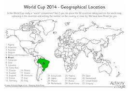 geography and the world cup world cup worksheets and world cup 2014