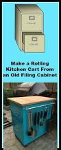 Teal File Cabinet Make A Rolling Kitchen Cart From An Old Filing Cabinet Rolling