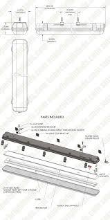 vapor proof fluorescent light fixtures t8 led vapor proof light fixture for 2 led t8 tubes industrial
