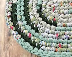 Rag Rugs For Kitchen Crochet Area Rug Etsy