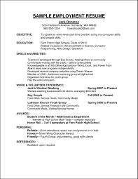 seasonal employment resume occupational examples samples free edit