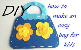 diy handbag for children easy craft idea youtube