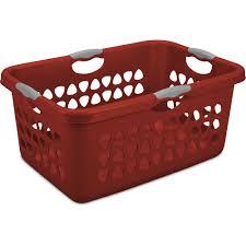 sterilite wheeled laundry hamper sterilite 2 bushel laundry basket red case of 4 walmart com