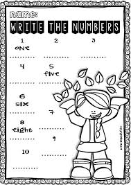 fall no prep free math and ela printables for pre k and kinder