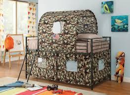 Camouflage Tent Bunk Bed Kids Beds COA - Tent bunk bed