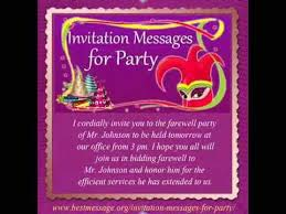 birthday text invitation messages best invitation messages sle party invitation text message