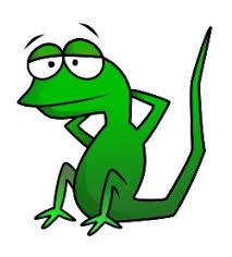 drawing a cartoon lizard