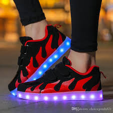 ladies light up shoes led luminous shoes boys girls fashion light up casual kids color