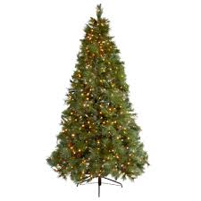 4 5 pre lit artificial tree with multi color lights