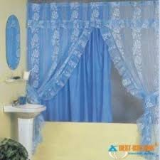 Fabric Shower Curtains With Matching Window Curtains Swag Shower Curtain Foter