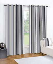 Grey White Striped Curtains Charcoal Grey Blackout Curtains Affordable Modern Home Decor