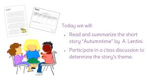unit 6 resources themes in american stories lesson 1 summarizing a short story and determining the theme