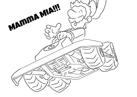 mario kart 8 colouring sheets mario brothers bros party coloring
