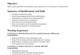 serving resume exles charming how to make a server resume also resume fanciful server
