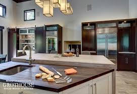 wenge kitchen island countertop in cold springs new york