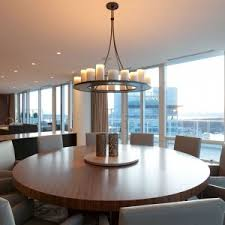 Dining Room Candle Chandelier Modern Dining Room Design With Extendable Wooden Dining