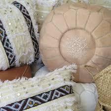 Leather Moroccan Ottoman by Moroccan Leather Pouffe U2013 U2013 Maison U0026 Maison