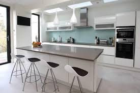 White Island Kitchen High Gloss White Acrylic Kitchens