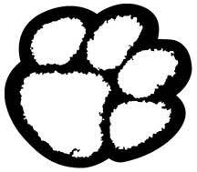 Coloring Page Tiger Paw | clemson tiger paw print coloring page tailgating pinterest