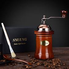 Portable Coffee Grinder Amazon Com Snuung Manual Coffee Grinder Portable Hand Crank Mill