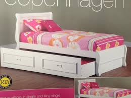 trundle bed king single white with trundle goingbunks biz