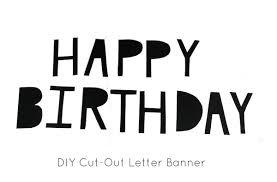 diy cut out birthday banner
