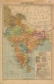 World Map 1950 A Map Of India Before Partition In 1947 British Victorian