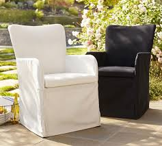 Pottery Barn Patio Furniture Slipcovered Indoor Outdoor Dining Chair Pottery Barn Retail