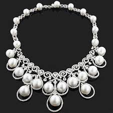 diamond pearl necklace images Pearl and diamond necklace clipart jpg