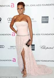 what to wear with a light pink dress not a good look mel b goes overboard with the pale pink lipstick as