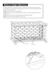 Brookline Convertible Crib Mattress Height Adjustment Westwood Design Brookline Convertible