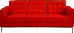 Knoll Sofa Replica replica florence knoll sofa 3 seater u2013 red italian leather auction