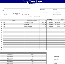 download daily time sheet for free tidyform