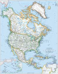 Political Map Of Central America by North America Political Map U2022 Mapsof Net