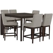 Tall Dining Room Sets City Furniture Rylan Dark Tone High Dining Table