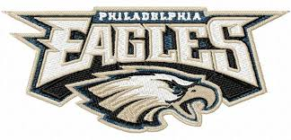 eagles nfl football sports team embroidery designs