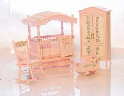 Victorian Crib Bedding by Delicate Pink U0026 White Victorian Baby Nursery Hand Painted