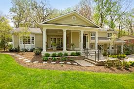 split level house with front porch nvbia virginia parade of homes