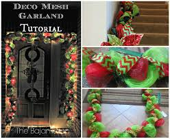 diy holiday garland using deco mesh holiday decor series u2013 the