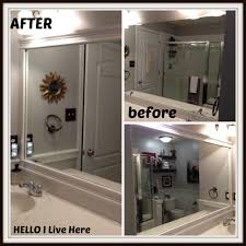 How To Frame A Bathroom Mirror With Crown Molding Fancy Framing Bathroom Mirrors With Crown Molding 54 For With