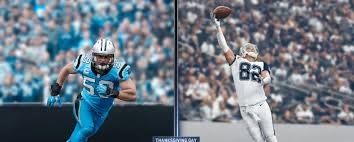 thanksgiving day sports the cowboysa and panthers color rush special uniforms for