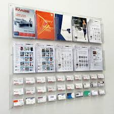 Brochures And Business Cards Brochure Holders With Business Card Lhf P100 Clear Acrylic