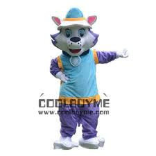Halloween Mascot Costumes Cartoon Character Purple Everest Husky Paw Patrol Dog Mascot