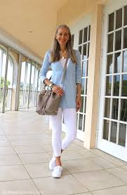 street style for over 40 video classic fashion over 40 how to style white leggings with a