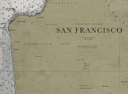 san francisco map framed nautical map framed collections tagged san francisco archive