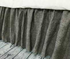 chambray grey bed skirt gathered bed skirt available in twin