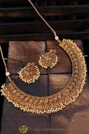 antique gold necklace images White pearl antique gold necklace set by punjabi traditional jpg