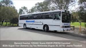 bcsv august 2015 tour diamond coaches 1052ac scania k92cr pmcsa