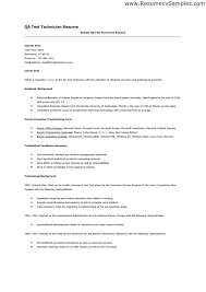 quality technician resume objective related resumes objective